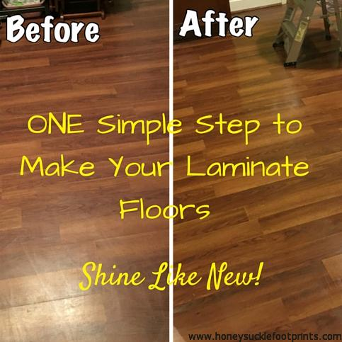 laminate floors. We didn't even consider the fact that dark floors ...
