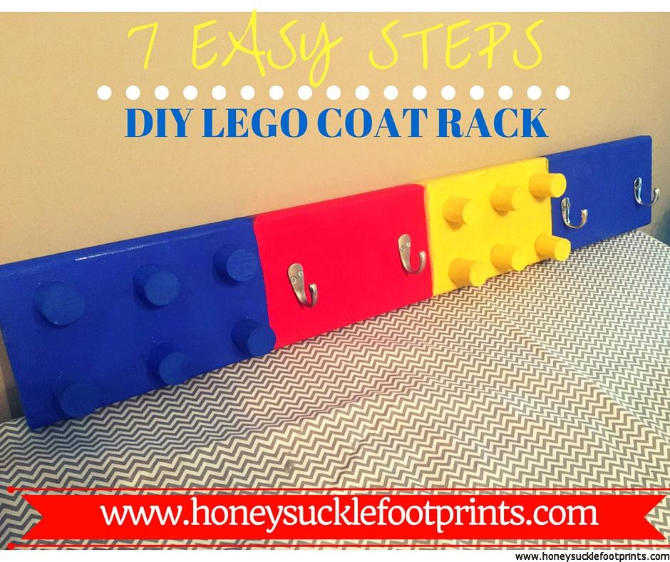 40 Easy Steps DIY LEGO COAT RACK Honeysuckle Footprints Inspiration Lego Coat Rack