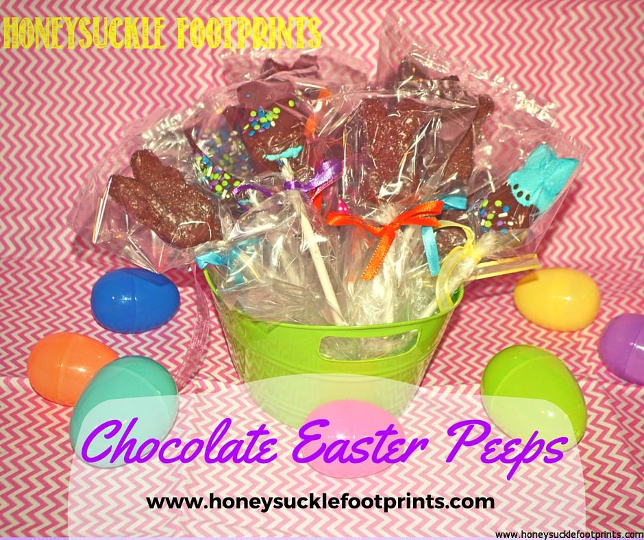 Chocolate Marshmallow Peeps - Honeysuckle Footprints
