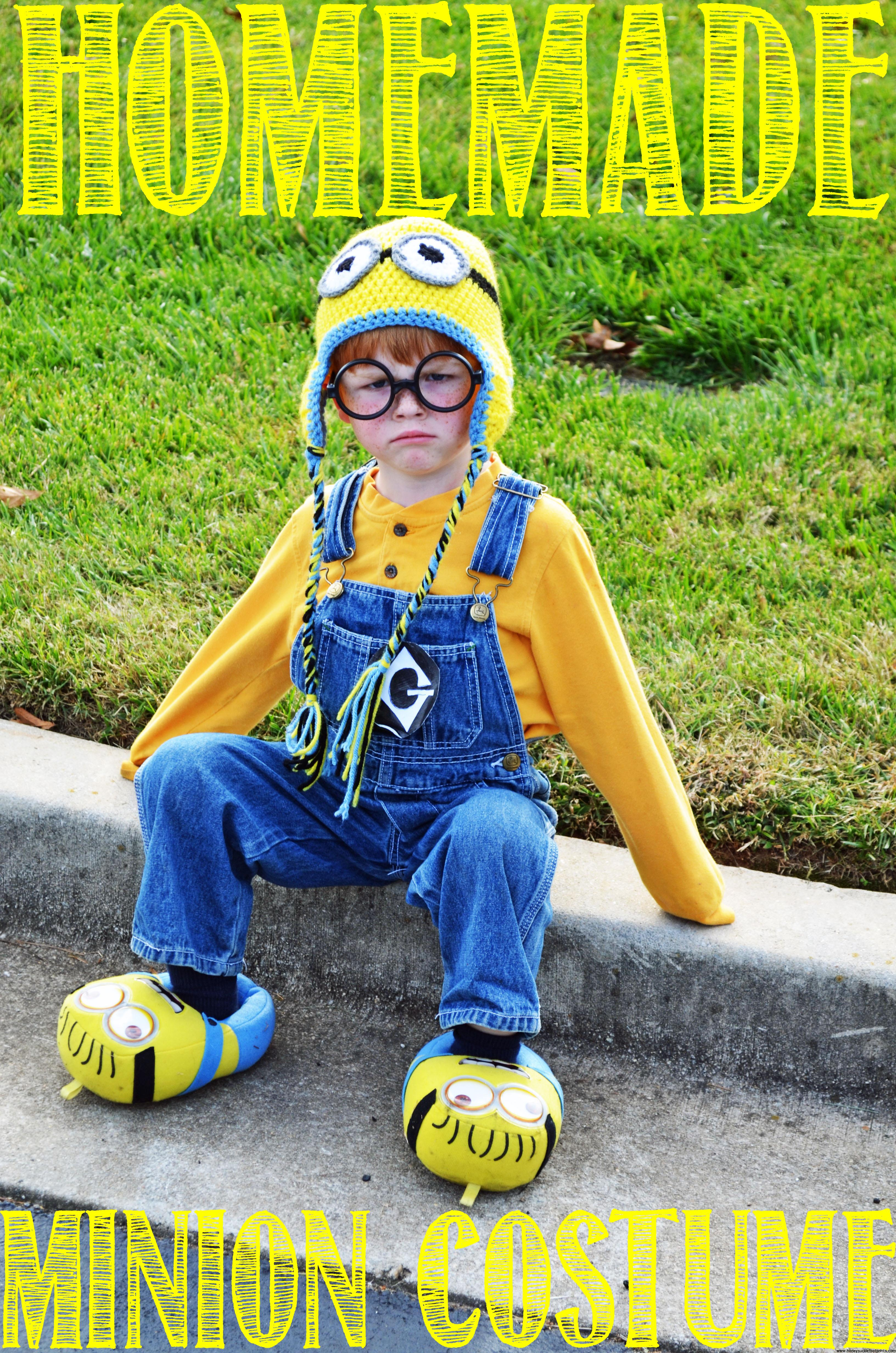 How to make the BEST homemade Minion costume for Halloween or just for fun!  sc 1 st  Honeysuckle Footprints & Homemade Minion Costume for Halloween! - Honeysuckle Footprints
