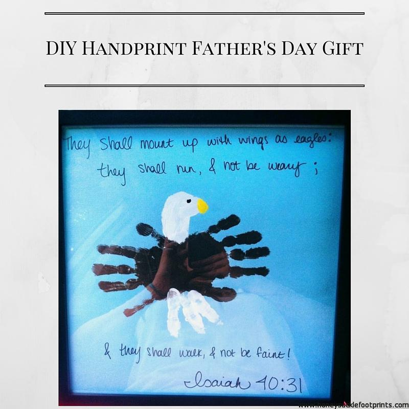 Diy Handprint Father S Day Gift Honeysuckle Footprints