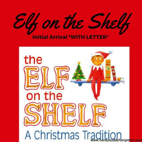 elf on the shelf arrival letter