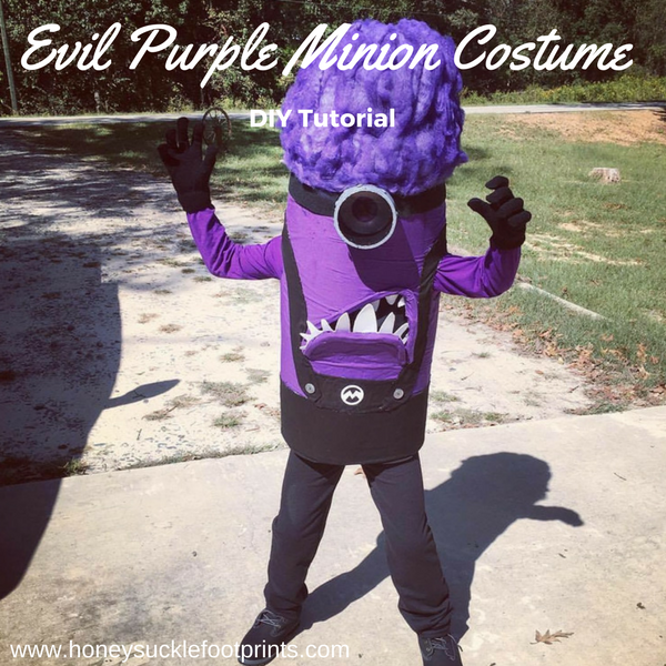 Evil Purple Minion Costume Halloween Costume Handmade Costume Halloween DIY & Evil Purple Minion Costume for Halloween - Honeysuckle Footprints