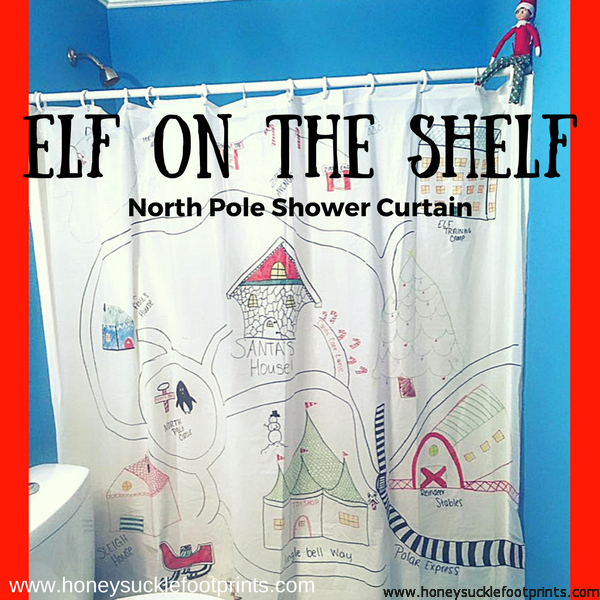 Elf On The Shelf Ideas North Pole Shower Curtain