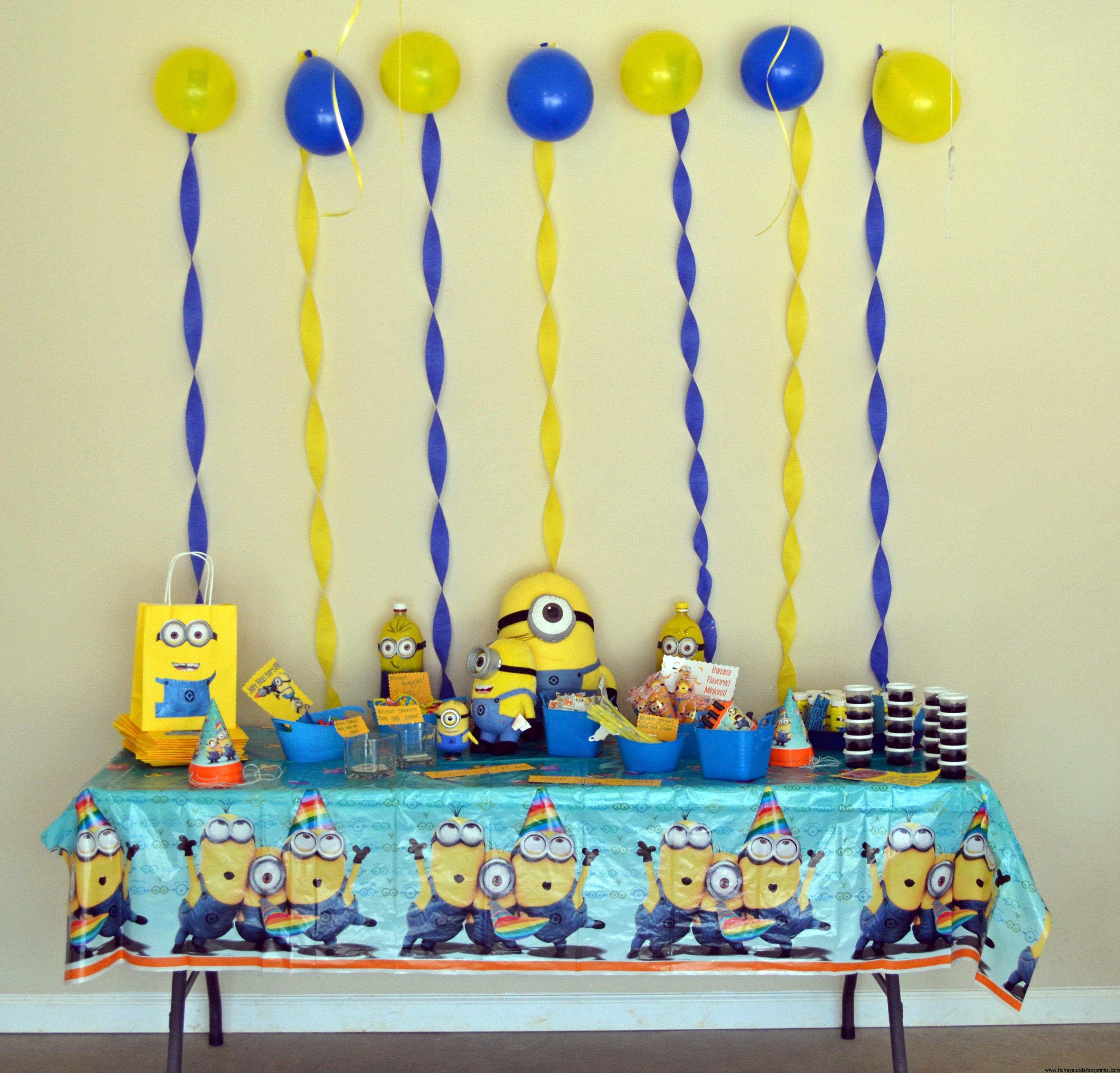 The BEST Minion Birthday Party! - Honeysuckle Footprints